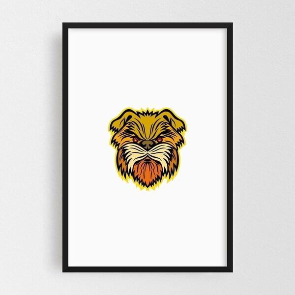 Noir Gallery Affenpinscher Monkey Dog Mascot Framed Art Print