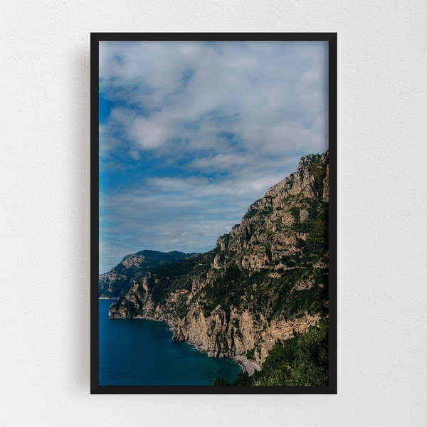 Noir Gallery Positano Italy Beach Nature Photo Framed Art Print