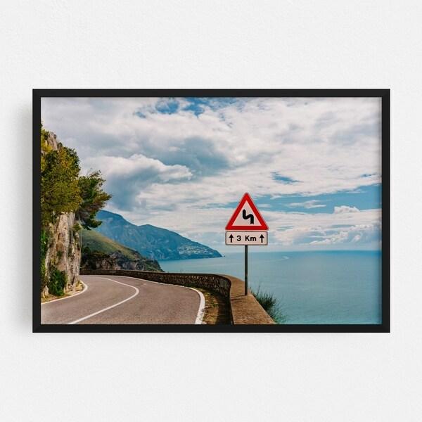 Noir Gallery Positano Italy Beach Nature Photo Framed Art Print
