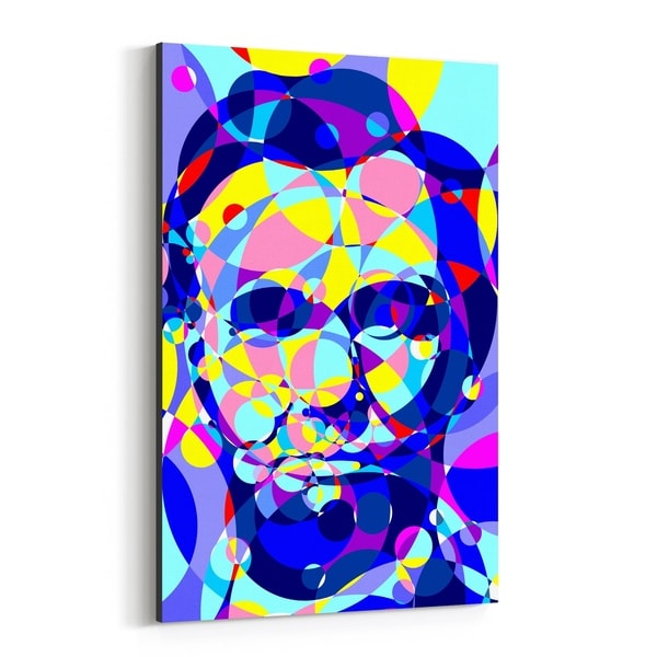 Noir Gallery Abraham Lincoln Abstract Illustration Canvas Wall Art Print