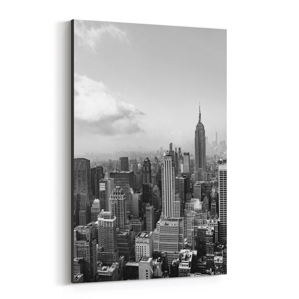 Noir Gallery New York New York Architecture Urban Canvas Wall Art Print