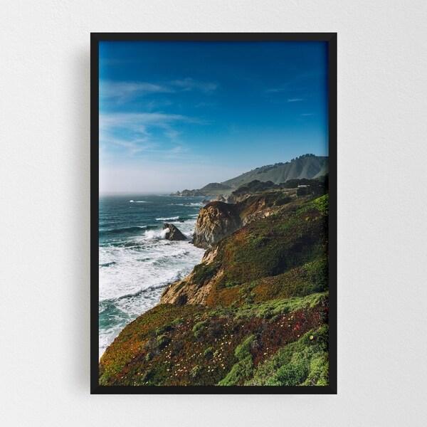 Noir Gallery Big Sur California Beach Nature Framed Art Print