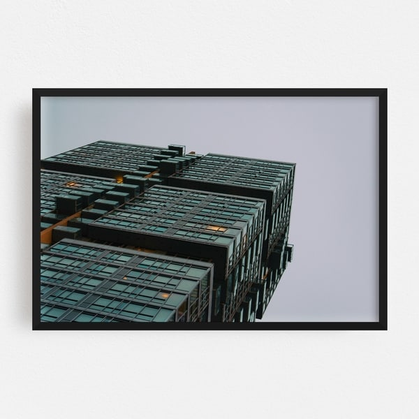 Noir Gallery Toronto Canada Abstract Architecture Framed Art Print