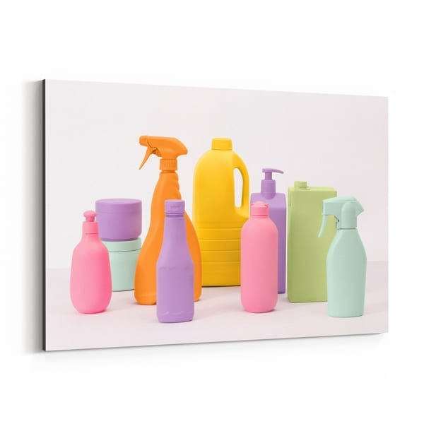 Noir Gallery Humor Plastic Bottles Photo Canvas Wall Art Print