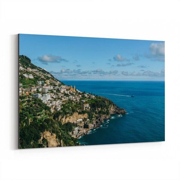 Noir Gallery Praiano Italy Beach Nature Photo Canvas Wall Art Print