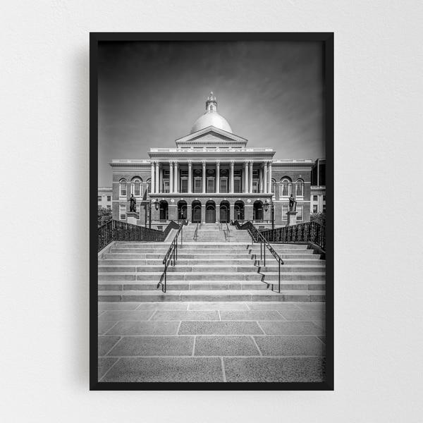 Noir Gallery Boston Massachusetts Architecture Framed Art Print