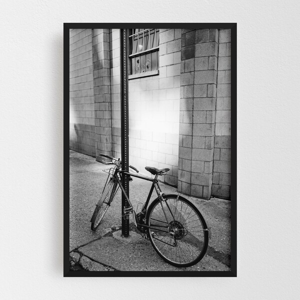 Noir Gallery Brooklyn New York Bicycle Framed Art Print