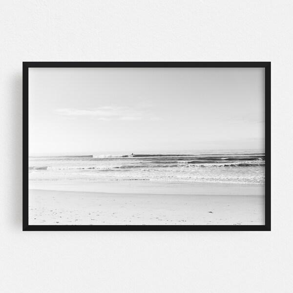 Noir Gallery San Diego California Sports Surfing Framed Art Print