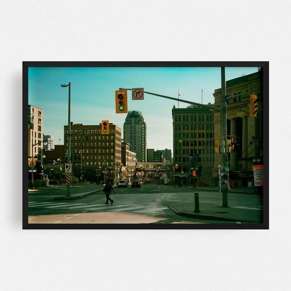 Noir Gallery Ottawa Canada Urban Cityscape Photo Framed Art Print