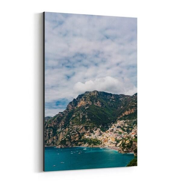 Noir Gallery Positano Italy Beach Nature Photo Canvas Wall Art Print