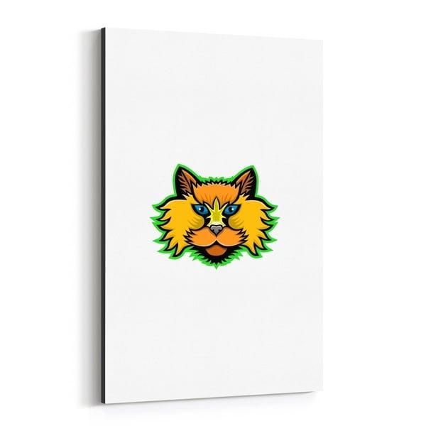 Noir Gallery Selkirk Rex Cat Mascot Canvas Wall Art Print