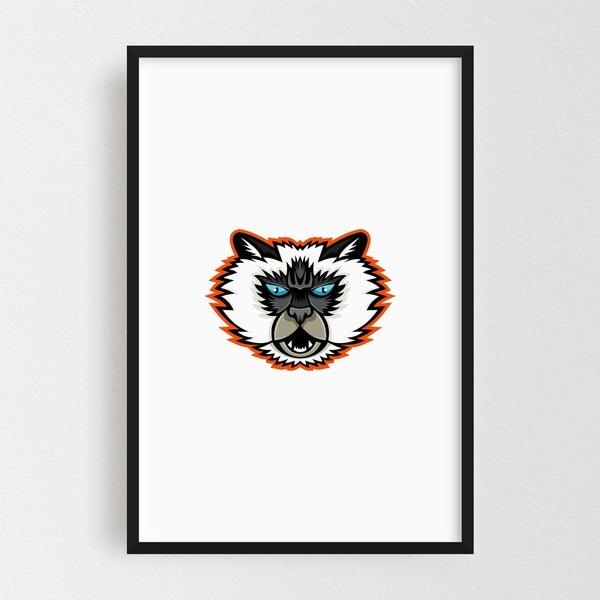 Noir Gallery Himalayan Cat Mascot Framed Art Print