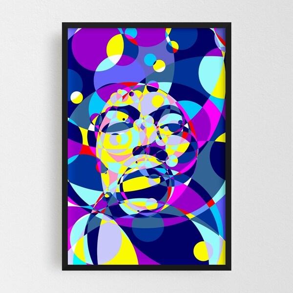 Noir Gallery Jimi Hendrix Abstract Illustration Framed Art Print