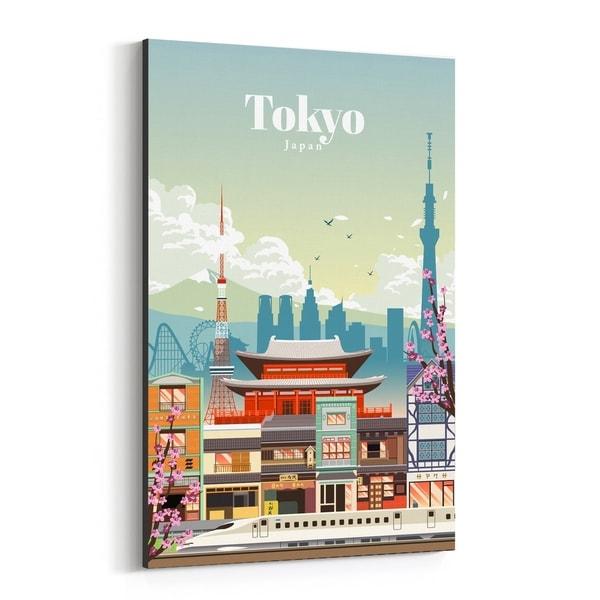 Noir Gallery Tokyo Japan Skyline Travel Canvas Wall Art Print