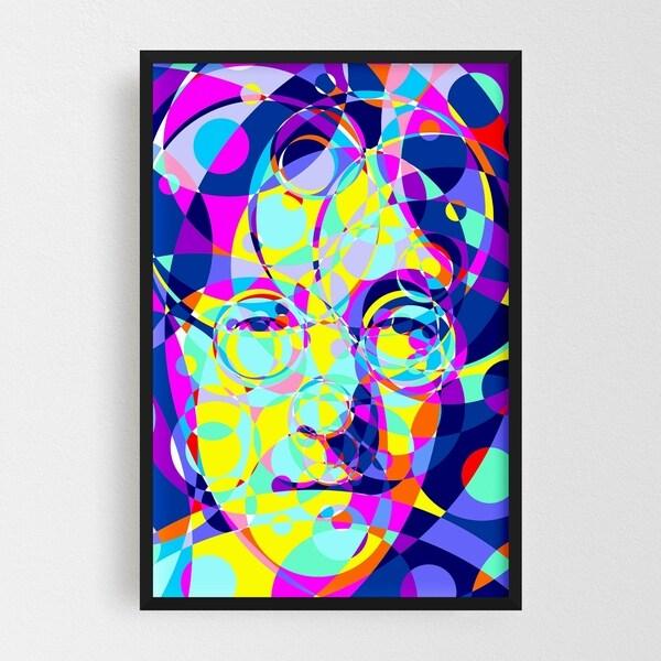 Noir Gallery John Lennon Abstract Illustration Framed Art Print