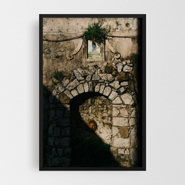 Noir Gallery Positano Italy Fountain Photo Framed Art Print
