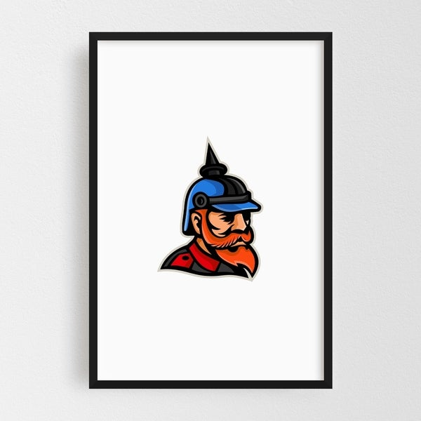 Noir Gallery Prussian Officer Mascot Framed Art Print