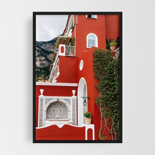 Noir Gallery Positano Italy Architecture Urban Framed Art Print