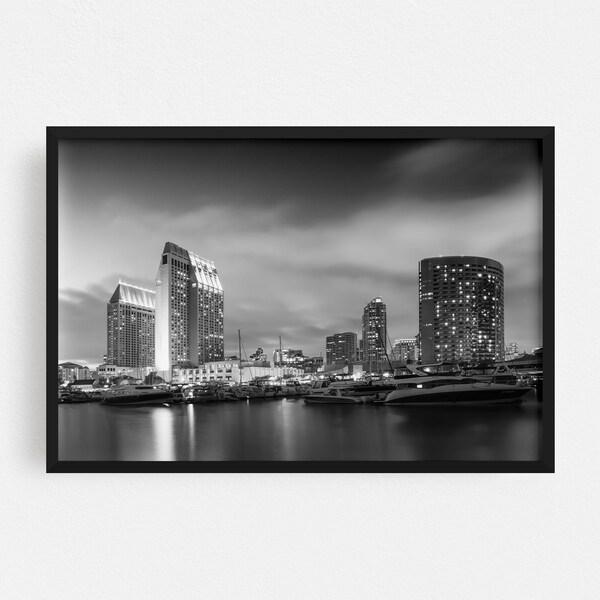 Noir Gallery San Diego California Urban Photo Framed Art Print