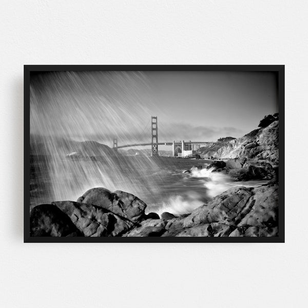 Noir Gallery San Francisco California Beach Photo Framed Art Print