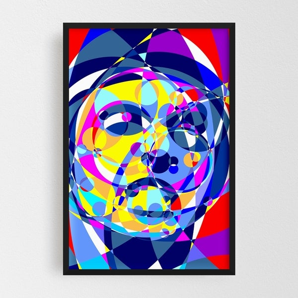 Noir Gallery Scarface Abstract Illustration Framed Art Print