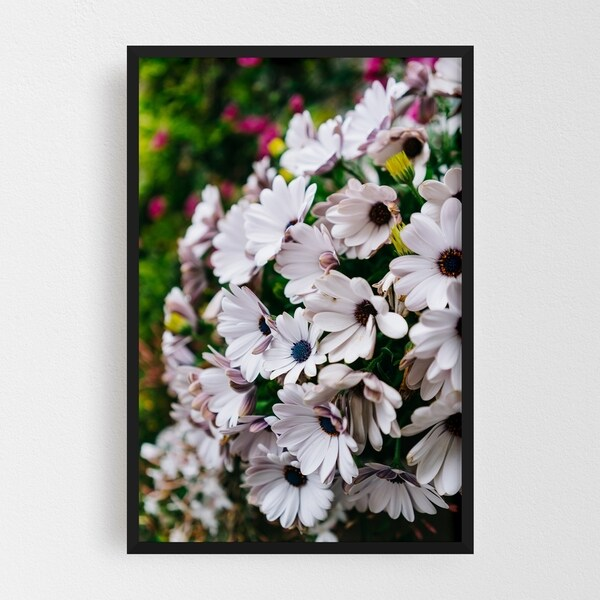 Noir Gallery Positano Italy Floral Nature Photo Framed Art Print