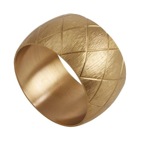 Metal Napkin Rings with Harlequin Design (Set of 4)