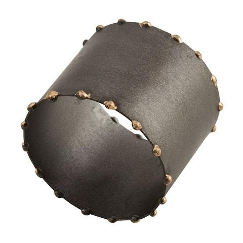 Dot Rim Iron Napkin Rings (Set of 4)