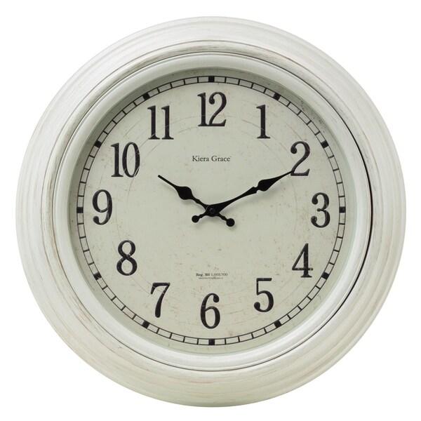 kieragrace Emerson Wall Clock, White