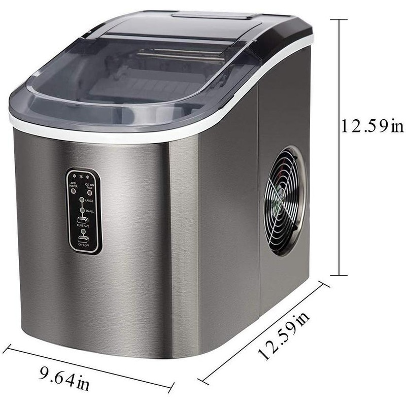 Shop Euhomy Countertop Ice Maker Machine Makes 26 Lbs Ice In 24