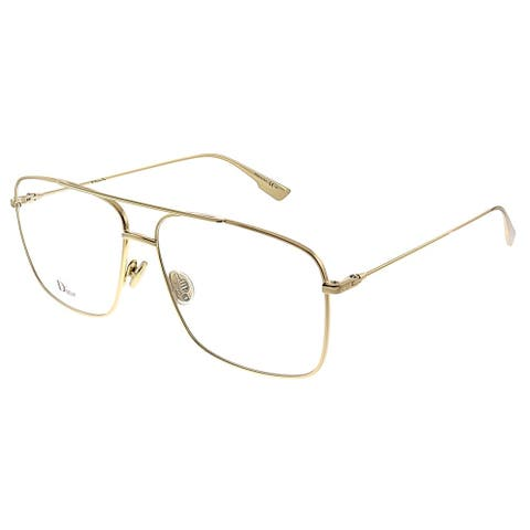 Dior CD StellaireO3 J5G 57mm Womens Gold Frame Eyeglasses 57mm