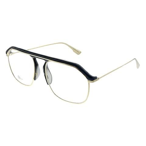 Dior CD StellaireV U76 54mm Womens Gold Black Frame Eyeglasses 54mm