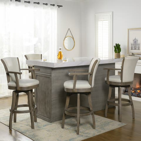 The Gray Barn Primrose Swivel Stool with Armrests