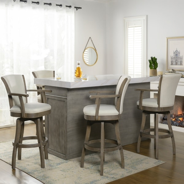 The Gray Barn Primrose Swivel Stool with Armrests. Opens flyout.