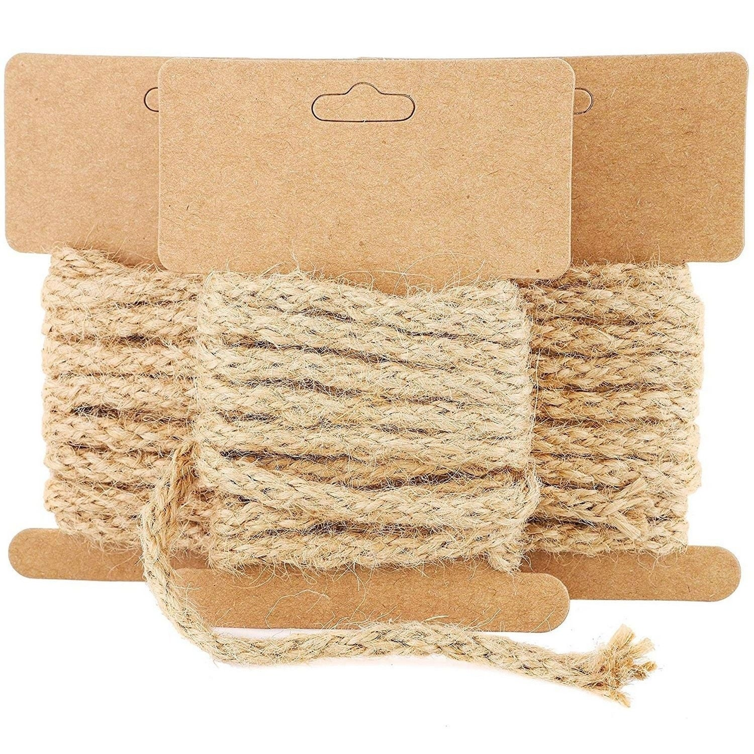 12 Pack 6 5 Feet Natural Jute Hemp Rope Cord Twine String For Crafts Diy 5mm Overstock 29775059
