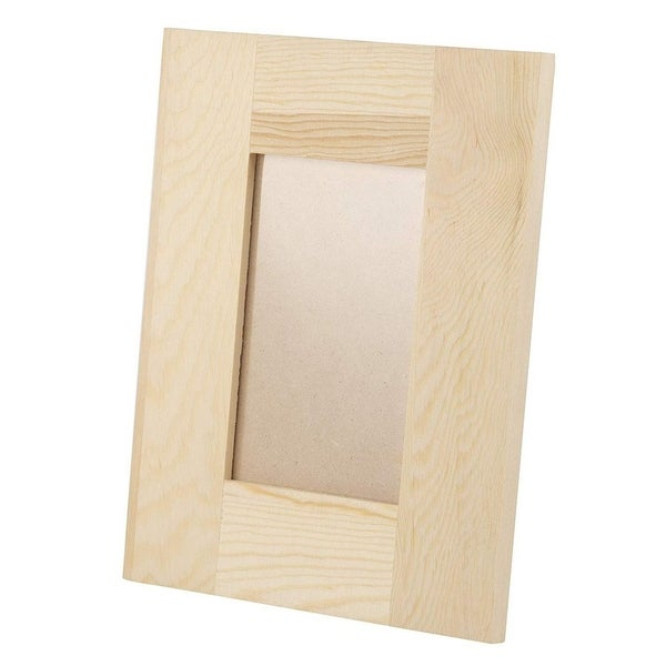 """6-Pack Unfinished Wooden DIY Picture Frame 5""""x7"""" for Desk Table Top Home Office"""