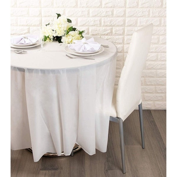 THE TABLECLOTH SHOP White Paper Table Covers x 25 by Dispo
