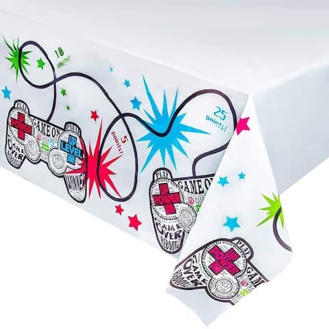 "6pcs 54 x 108"" Disposable Plastic Table Covers Tablecloths Game Party Decoration"
