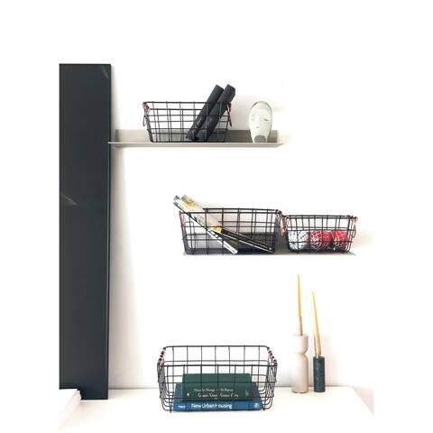 The Curated Nomad Lassen Handmade Rectangular Nested Metal Baskets (Set of 4)