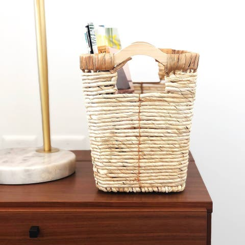 The Curated Nomad Ray Handmade Wicker Waste/Magazine Baskets (Set of 2)