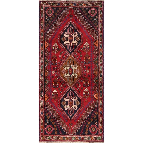 """Tribal Vintage Hand Knotted Diamond Abadeh Persian Oriental Area Rug - 5'9"""" X 2'8"""""""