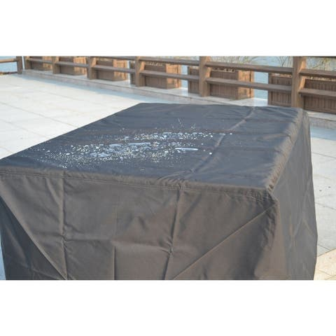 Outdoor Waterproof Ultimate Square Patio Table with Chairs Rain Cover - 106x 82x 23 inches