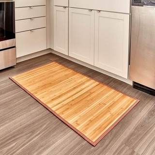 The Curated Nomad Washburn Water-repellent Non-skid Bamboo Floor Mat