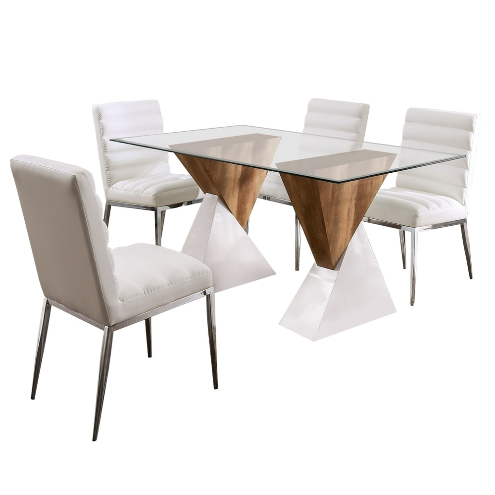 Furniture of America Bame Contemporary 5-piece Dining Set