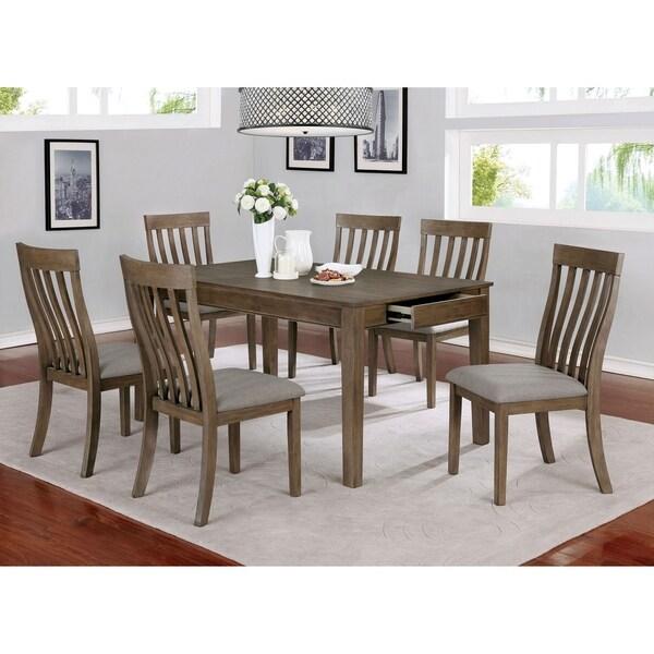 Furniture of America Kupa Transitional Oak 7-piece Dining Set. Opens flyout.