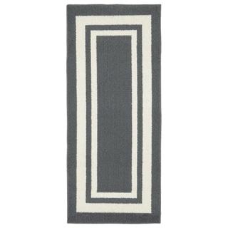 Borderline 24 in. x 60 in. Indoor/Outdoor Area Rug Cinder Gray/Ivory