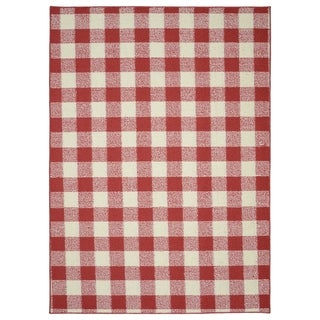 Garland Rug Country Living 7 ft. x 10 ft. Area Rug Chili Red/Ivory