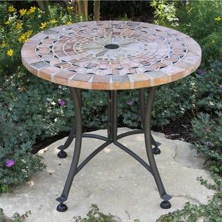 Havenside Home Cordora 24-inch Sandstone Accent Table
