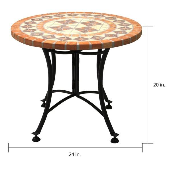 """24"""" Dia. Terra Cotta Accent Table"""