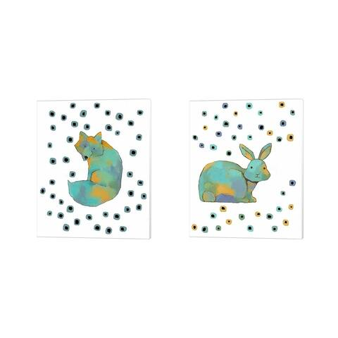 Judi Bagnato 'Rabbit & Fox' Canvas Art (Set of 2) - 12 x 15